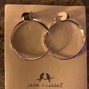 Chloe + Isabel Silver Loop Earrings